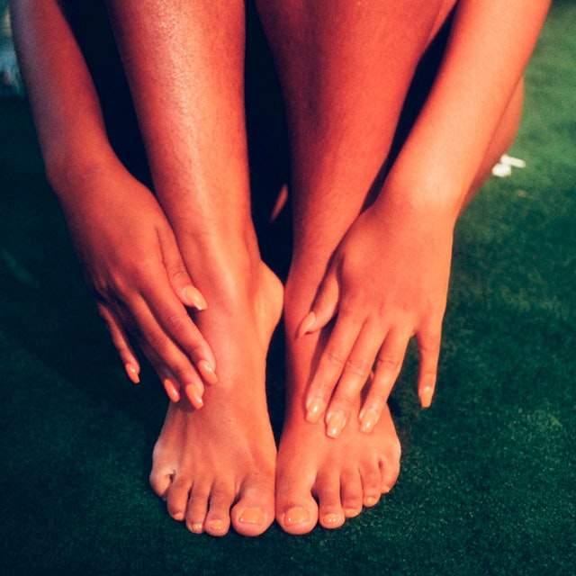 Milk foot scrub